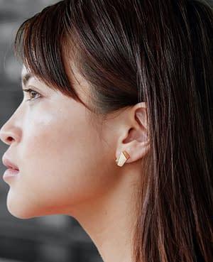 boucles d'oreilles archi mini laiton doré