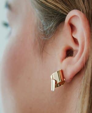 boucles d'oreilles archi curve laiton doré