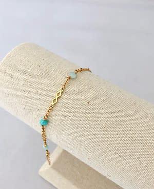 bracelet losange amazonite