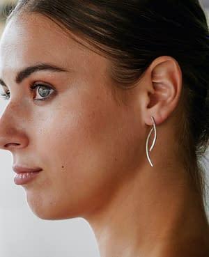 boucles d'oreilles osiris double long argent