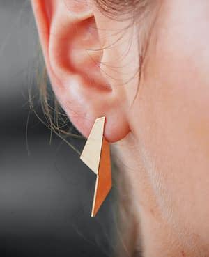 boucles d'oreilles pliage A