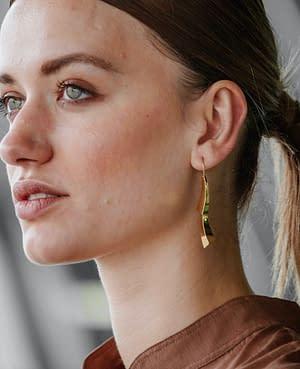 boucles d'oreilles pliage pendent