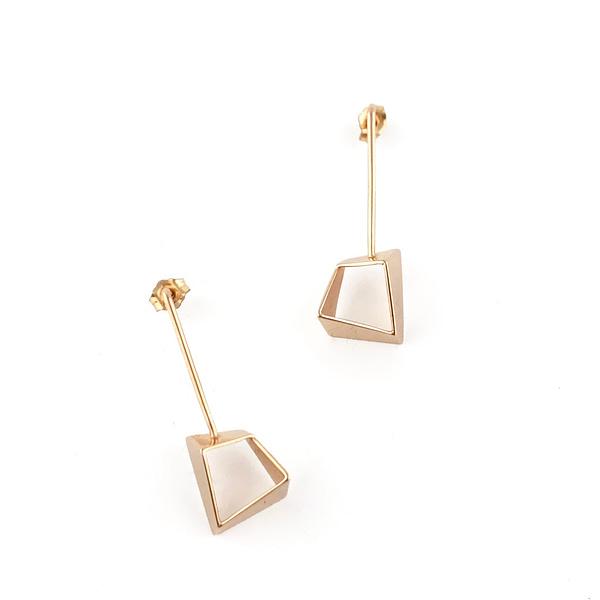 boucles d'oreilles archi moyen laiton doré