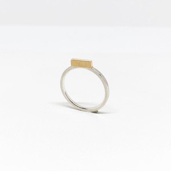 bague miniale rectangle