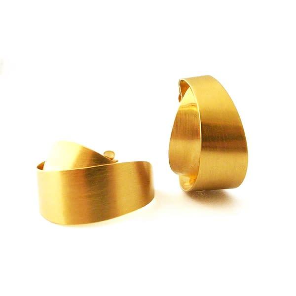 boucles d'oreilles archi curve créole laiton doré