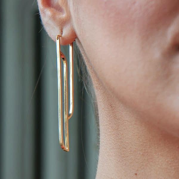 boucles d'oreilles scala A laiton doré