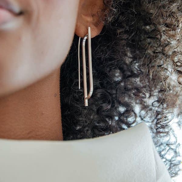 boucles d'oreilles scala B argent