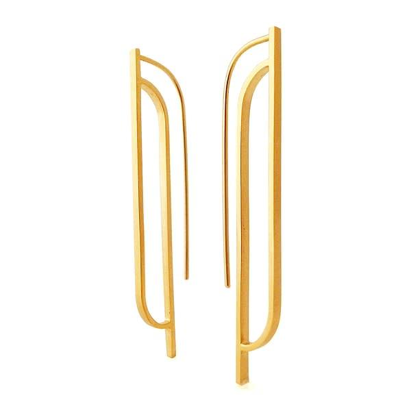 boucles d'oreilles scala B laiton doré