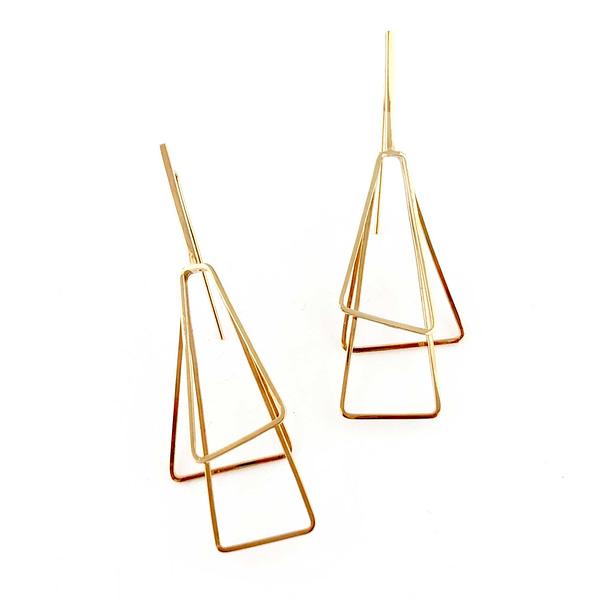 boucles d'oreilles torii laiton doré