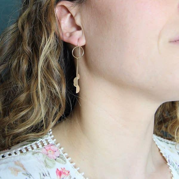 boucles d'oreilles demi lune