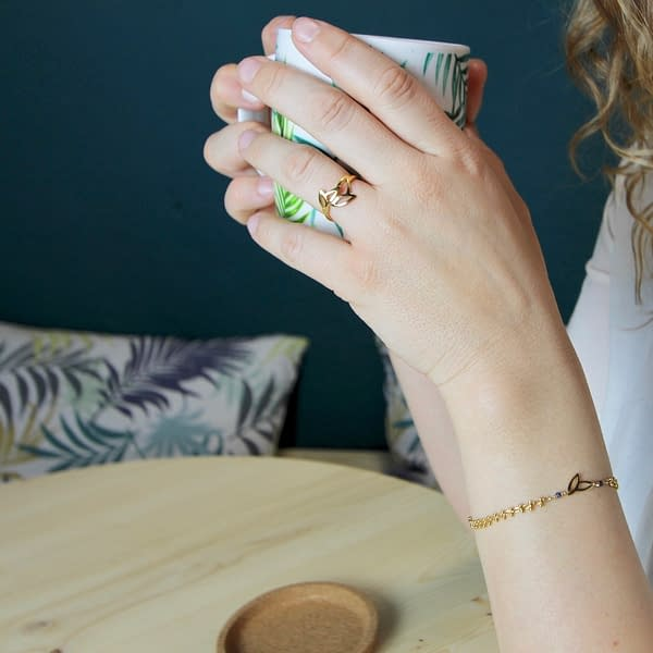 bague bracelet epi saphir bleu
