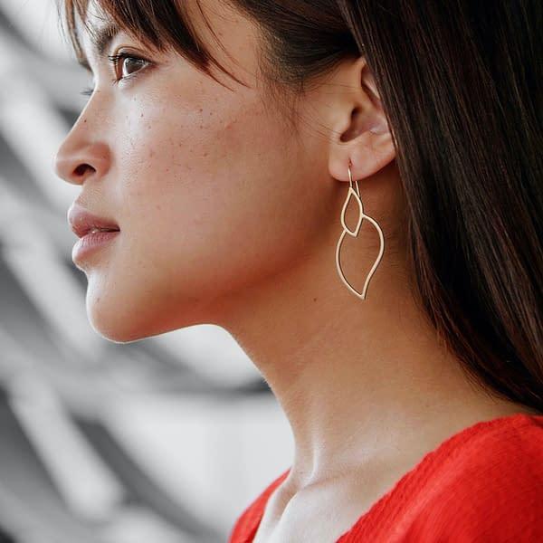 boucles d'oreilles géo curve B