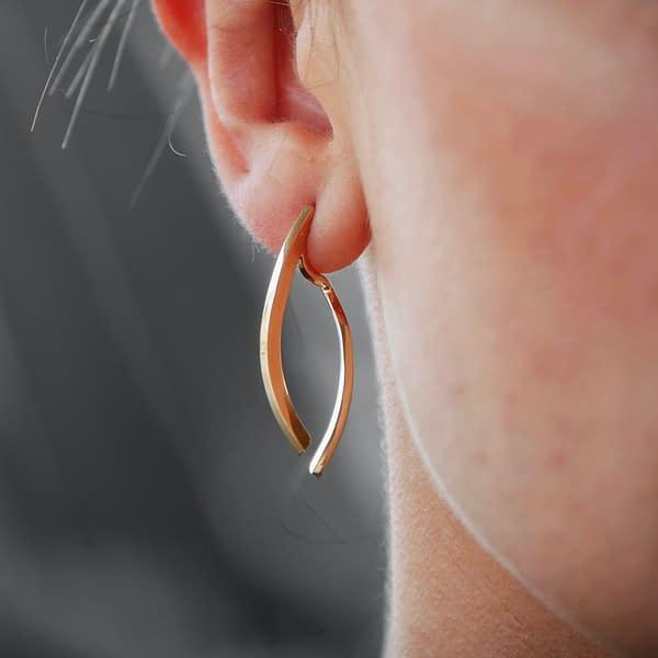boucles d'oreilles osiris double court laiton doré