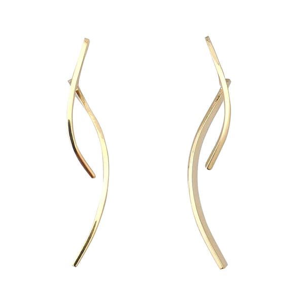 boucles d'oreilles osiris double long laiton doré