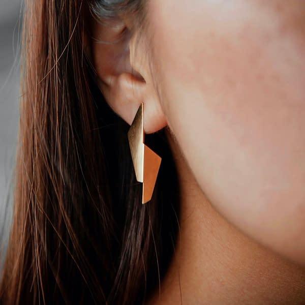 boucles d'oreilles pliage B