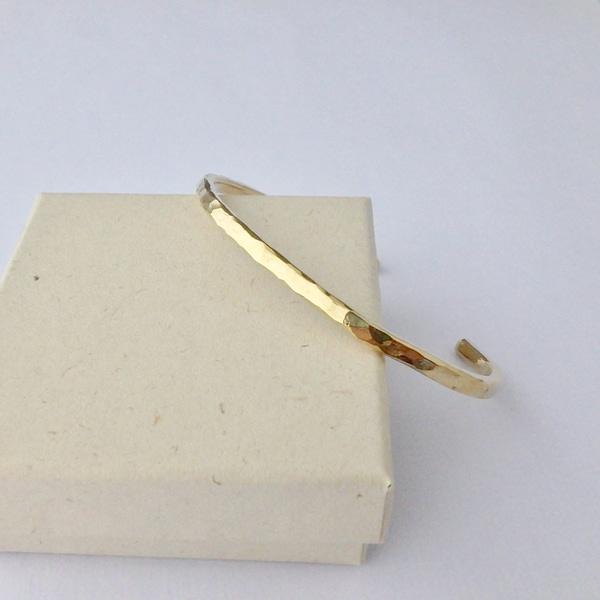 bracelet tsuchimé laiton brut