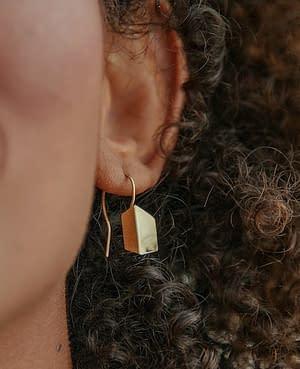 boucles d'oreilles scala mini laiton doré