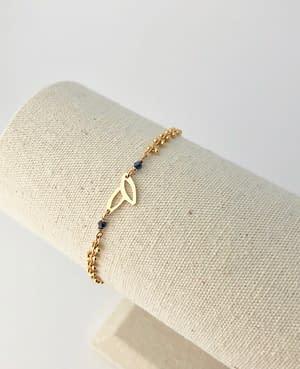 bracelet epi saphir bleu
