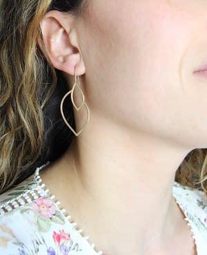 boucles d'oreilles géo curve A