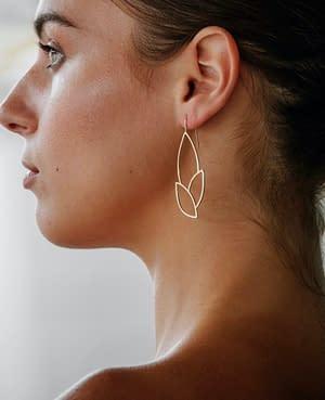 boucles d'oreilles géo curve D