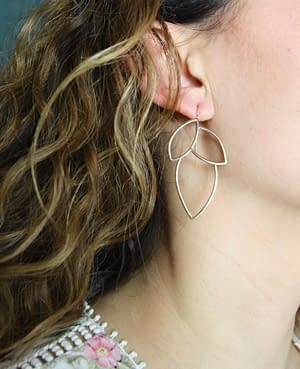 boucles d'oreilles géo curve E