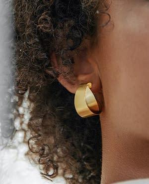 boucles d'oreilles archi curve créole